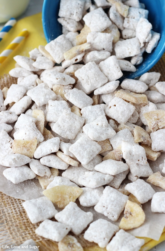 Close-up Image of Banana Pudding Puppy Chow