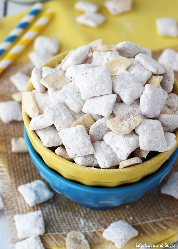 Image of Banana Puppy Chow in a Bowl