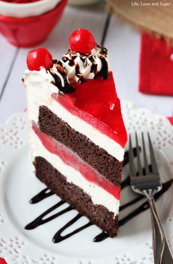 Black Forest Ice Cream Cake Life Love And Sugar