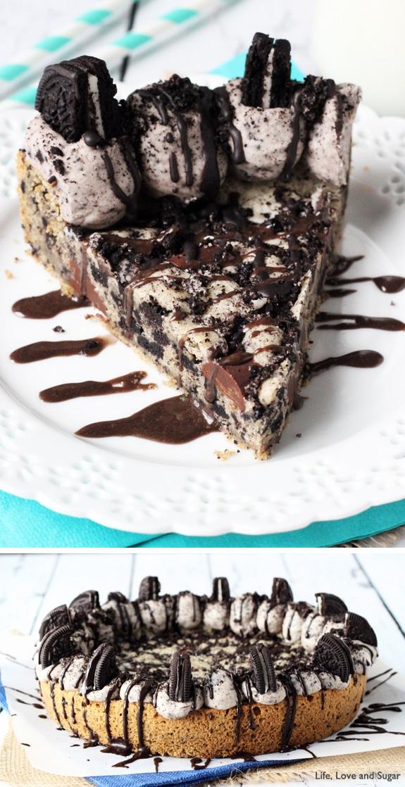 Oreo Cookies and Cream Cookie Cake