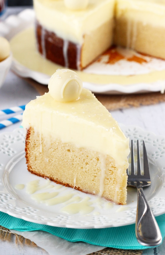 WWhite Chocolate Truffle Cake