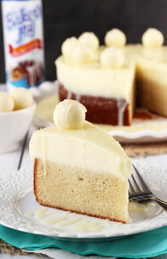 White Chocolate Truffle Cake