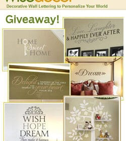 Collage of Wise Decor decorative Wall Lettering