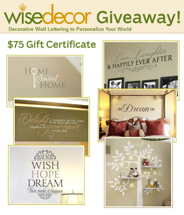 Wise Decor Tutorial and Giveaway!