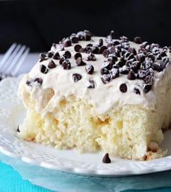 Image of Cannoli Poke Cake