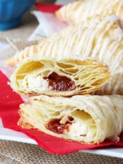 Guava and Cheese Pastries showing filling