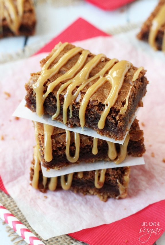 Pretzel Caramel Nutella Brownies