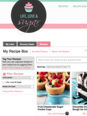 A Screen View of Life Love and Sugar's Recipes on Ziplist