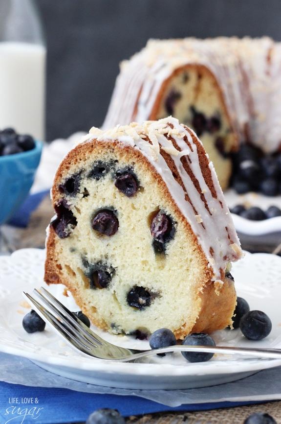 Blueberry Coconut Bundt Cake