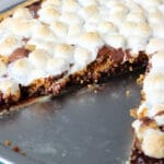 S'Mores Pizza with slice missing