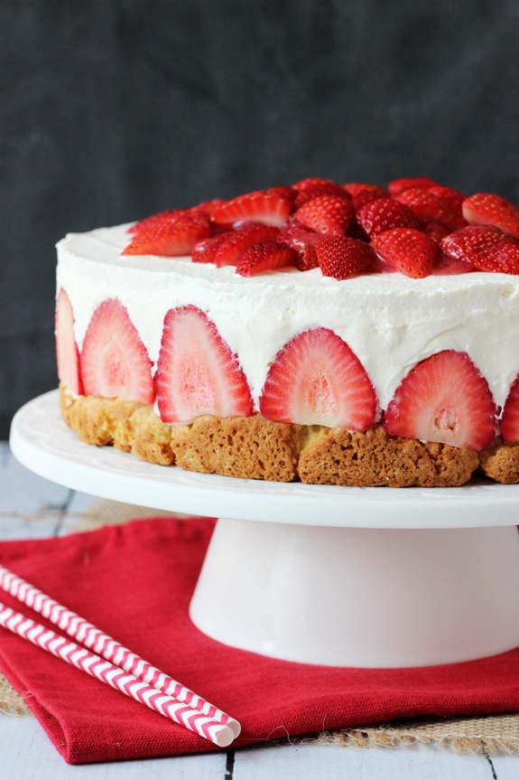 Fresh Berry Vanilla Layered Cake Delicious 4th Of July Dessert Idea