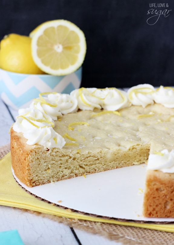 Lemon Cookie Cake