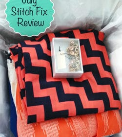 July Stitch Fix outfit in box