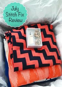 July Stitch Fix outfit in box