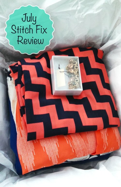 A Stack of The Clothes and Accessories From My 2014 Stitch Fix Box