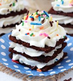 Birthday Cake Brownie Brittle Icebox Cupcakes