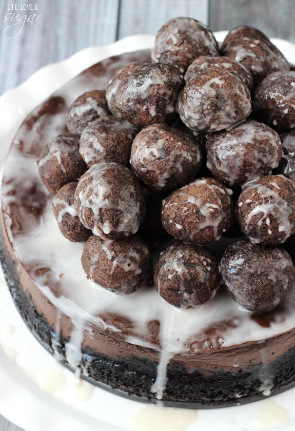 Chocolate Donut Hole Cheesecake