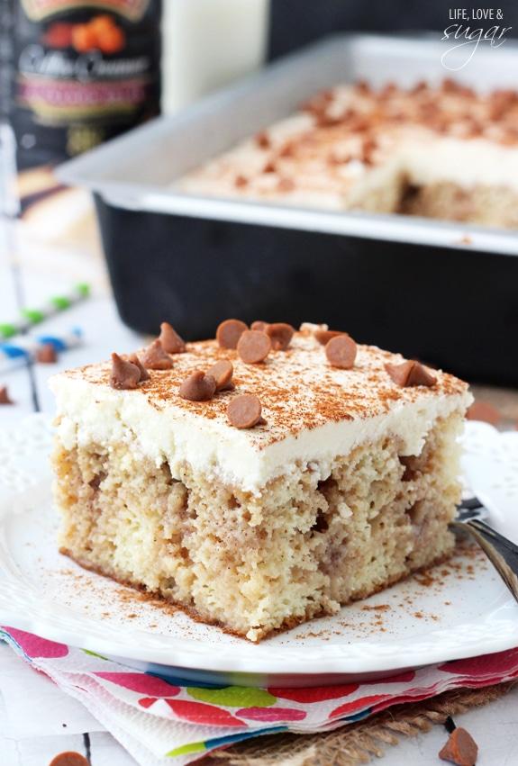 Cinnamon Roll Poke Cake