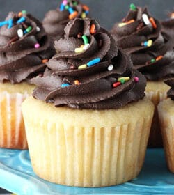 Yellow_Cupcakes_With_Chocolate_Frosting-featured