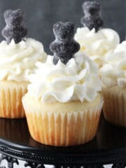Anise Licorice Cupcakes close up