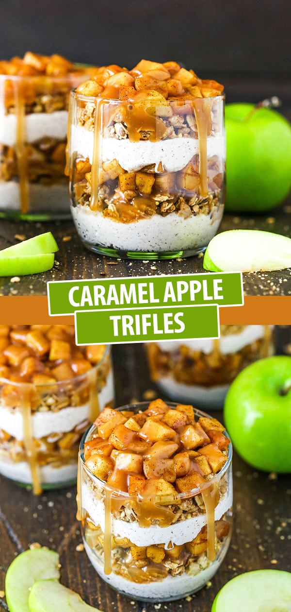 apple cinnamon trifles in glass jars