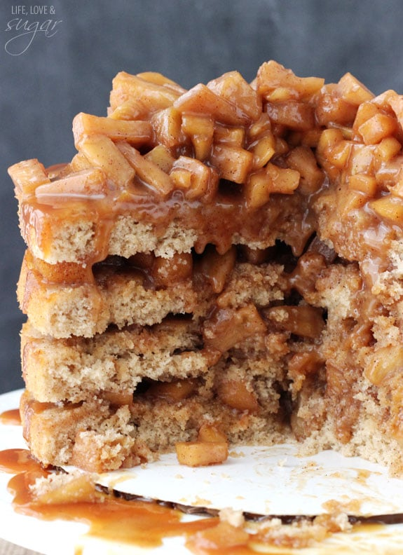 Caramel Apple Layer Cake! Perfect for fall!