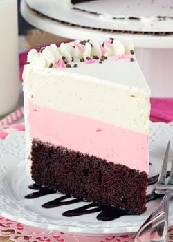 Neapolitan Ice Cream Cake - Life Love and Sugar