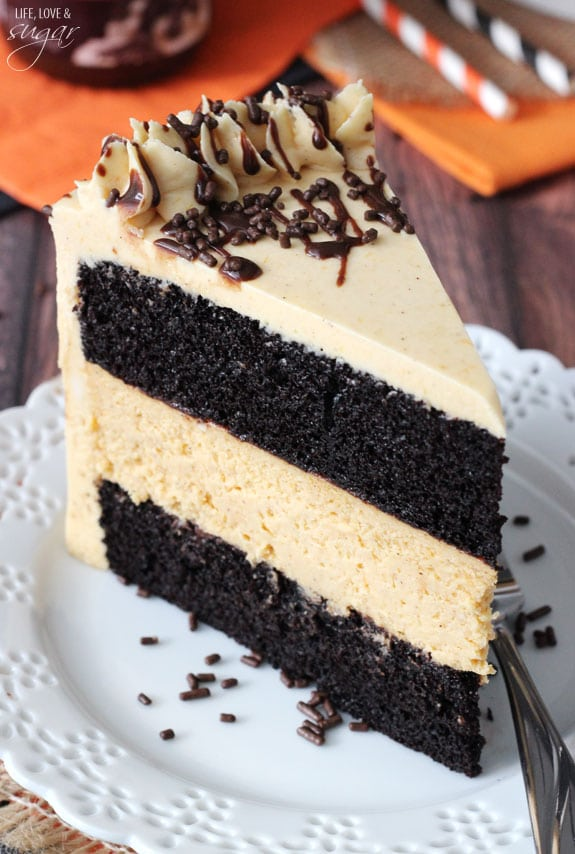 Chocolate Pumpkin Cheesecake Cake Life Love And Sugar