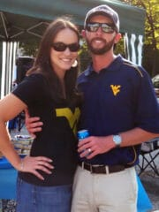 Lindsay and Ian at tailgate