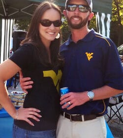 Lindsay and Her Husband Ian Hanging Out at the Alabama vs West Virginia Tailgate
