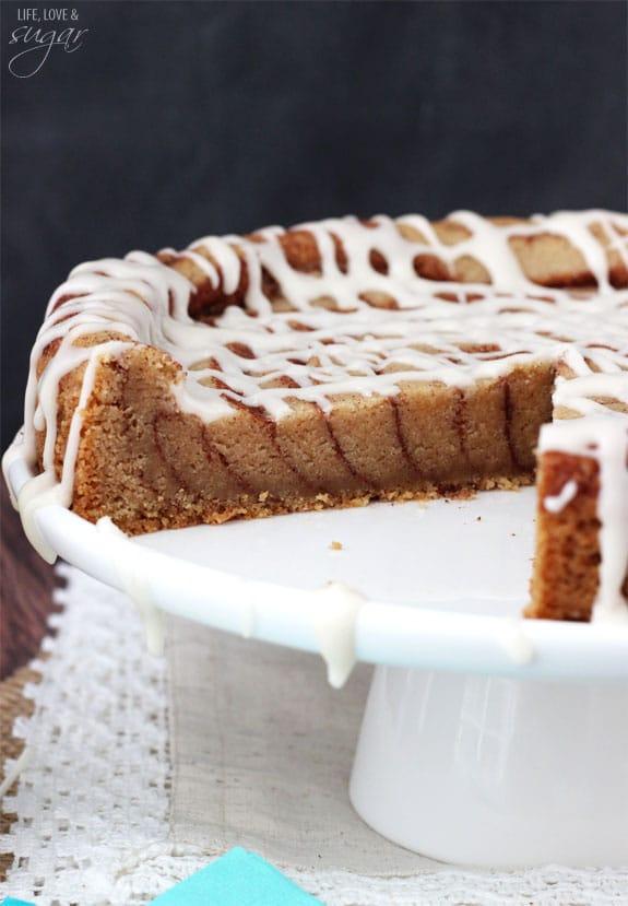 Cinnamon Roll Cookie Cake