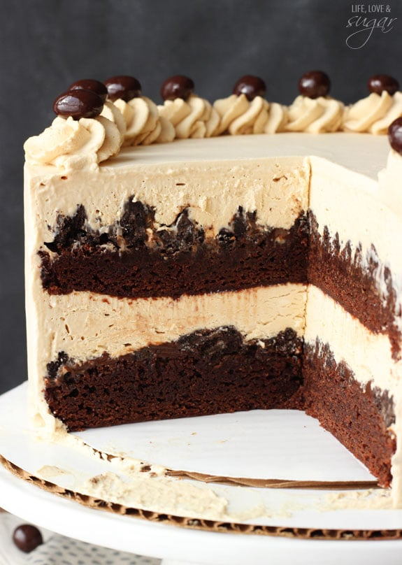 Mocha Brownie Ice Cream Cake - layers of coffee ice cream, brownies ...