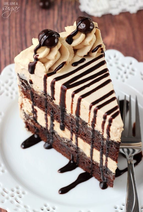 Chocolate Coffee Fudge Cake
