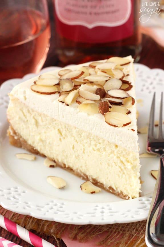 Amaretto Cheesecake - Life Love and Sugar