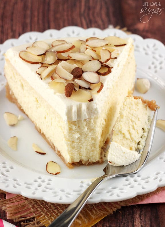 Amaretto Cheesecake - thick, creamy and so good!