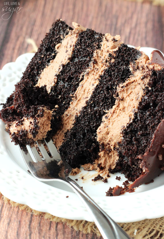 Nutella Chocolate Cake Layers Of Dark And Ercream Topped With