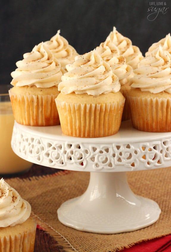 Eggnog Cupcakes - Life Love and Sugar