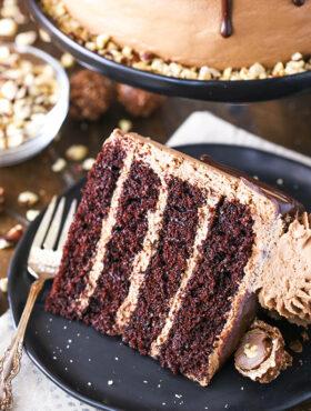Image of Nutella Chocolate Cake slice