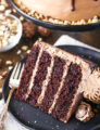 Nutella Chocolate Cake! - Layers of dark chocolate cake and Nutella buttercream topped with chocolate ganache! SO good!