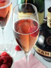 Image of a Black Raspberry Champagne Bellini
