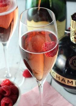 Image of a Black Raspberry Champagne Bellini