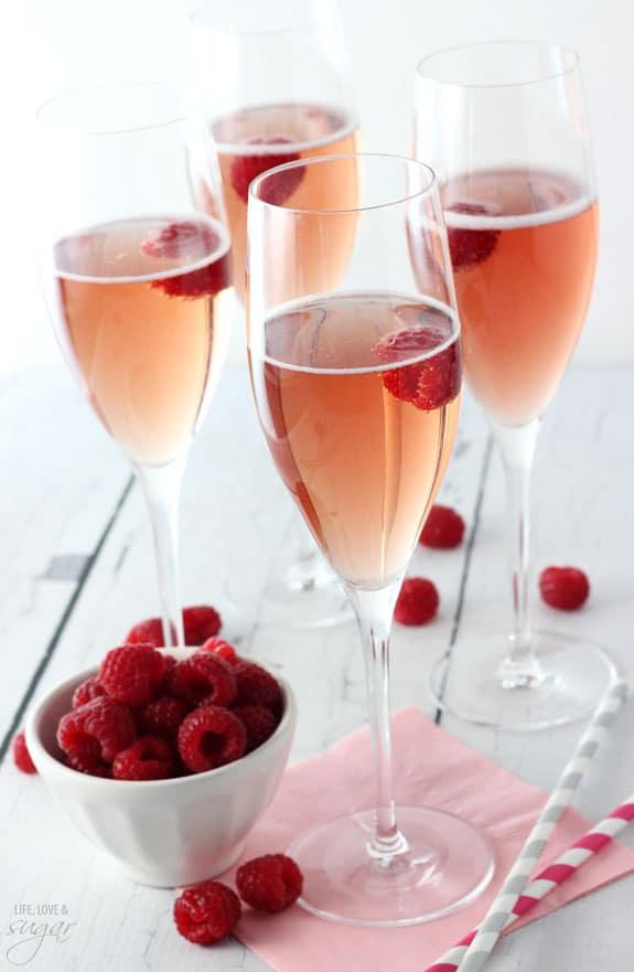 Black Raspberry Champagne Bellini