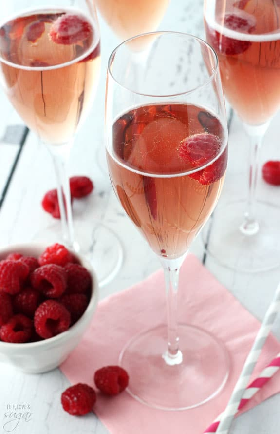 Black Raspberry Champagne Bellini - Life Love and Sugar