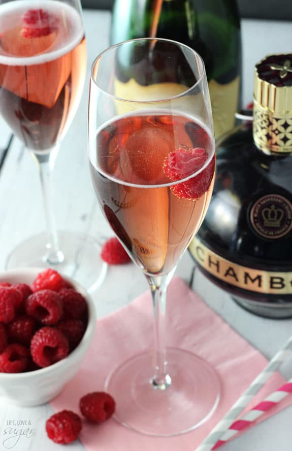 Black Raspberry Champagne Bellini