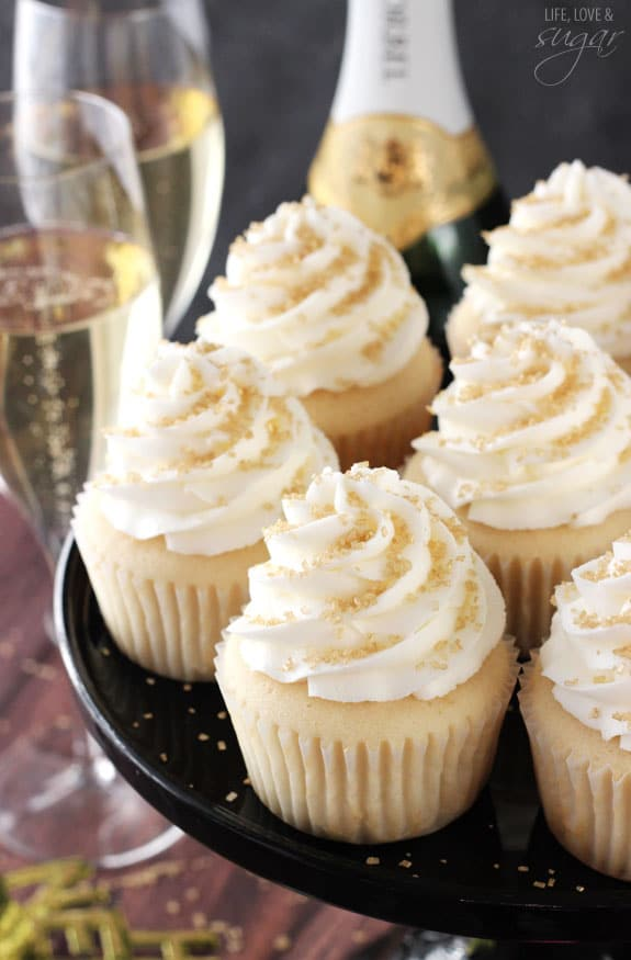 Champagne Cupcakes - Life Love and Sugar