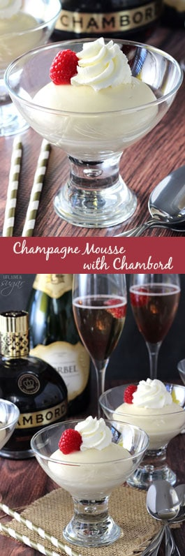 Champagne Mousse with Chambord photo collage