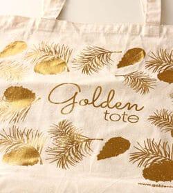 Golden Tote tote bag