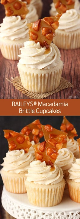 Macadamia Brittle Cupcakes photo collage