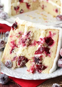 Sparkling Cranberry White Chocolate Cake - Life Love and Sugar