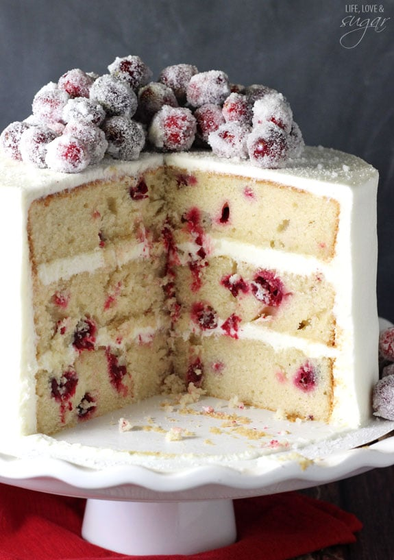 Cranberry White Cake Recipe